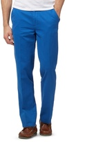 Maine New England Big And Tall Bright Blue Tailored Fit Chino's