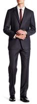 Hickey Freeman Pinstripe Two Button Notch Lapel Wool Suit