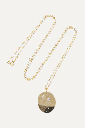 Cvc Stones Speciale 18-karat Gold, Stone And Diamond Necklace