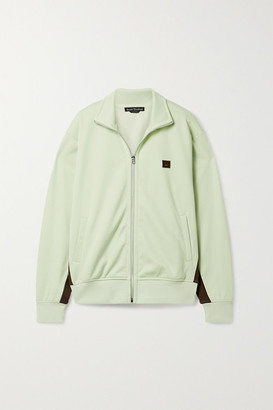 Acne Studios Appliqued Striped Stretch-jersey Track Jacket - Mint