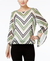 Alfani Angel-Sleeve Blouson Top, Only at Macy's