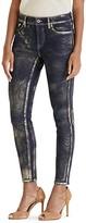 Lauren Ralph Lauren Metallic Skinny Ankle Jeans in Indigo