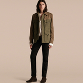 Burberry Ramie Cotton and Suede Field Jacket