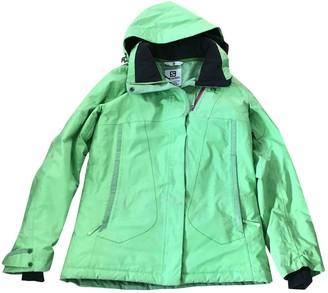 Salomon Green Synthetic Coats