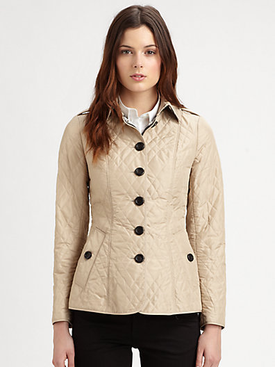 Burberry Technical Taffeta Quilted Jacket
