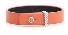 Bottega Veneta Button Embellished Leather Bracelet