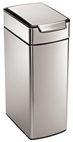 Simplehuman 40 Liter Slim Touch-Bar Trash Can in Fingerprint-Proof Brushed Stainless Steel