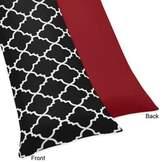 Sweet Jojo Designs Trellis Body Pillowcase in Red/Black