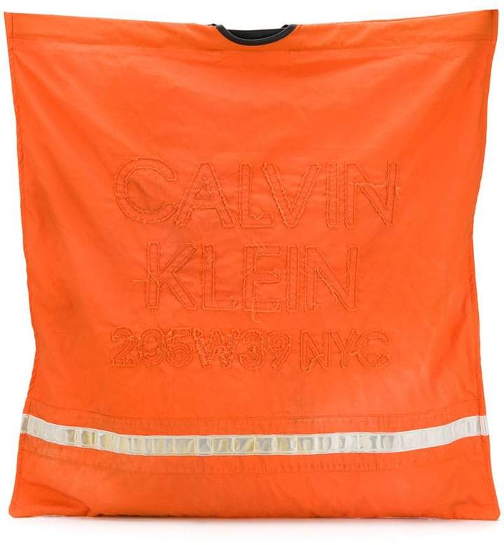 Calvin Klein embroidered logo firefighter tote