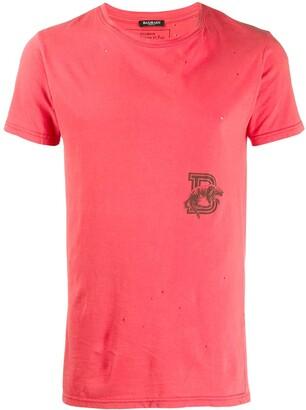 Balmain Pre-Owned logo print T-shirt