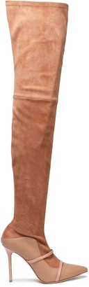Malone Souliers Suede And Leather Thigh Boots