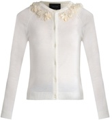 Simone Rocha Embellished wool-blend cardigan