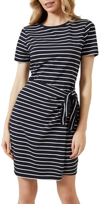 French Connection Stripe Wrap Dress