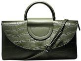 PINGORA Women's Genuine Leather Clutch Handbag Shoulder Purse Top Handle Bag
