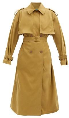 Vika 2.0 - Double-breasted Tencel-blend Trench Coat - Khaki