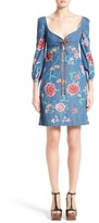 Roberto Cavalli Women's Rose Print Denim Dress