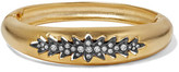 Elizabeth Cole Irelyn Gunmetal And Gold-Plated Crystal Bracelet