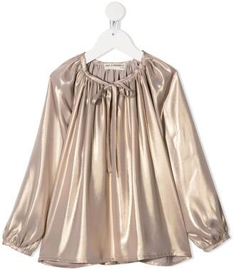 Anja Schwerbrock Kids Sefina metallic-effect blouse