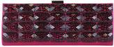 Sondra Roberts Croco Tile Metal Clutch