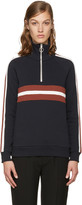 Harmony Navy Sidonie Zip-up Pullover
