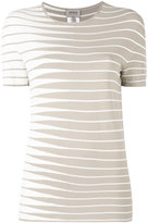 Armani Collezioni striped knitted top - women - Polyester/Viscose - 40