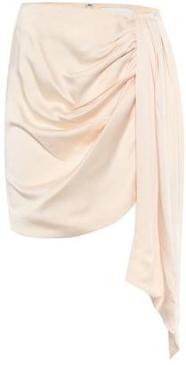 Jonathan Simkhai Mae asymmetric satin miniskirt