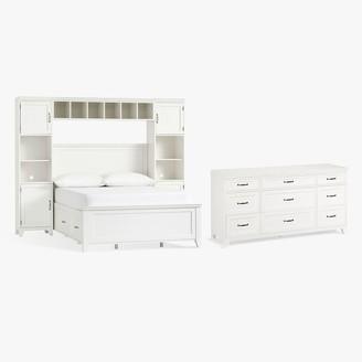 Pottery Barn Teen Hampton Storage Bed with Vanity Towers & 9-Drawer Dresser Set