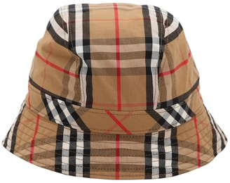 Burberry CHECK COTTON BUCKET HAT