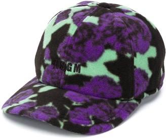 MSGM Floral Fleece Baseball Cap