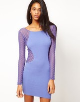 Motel Dress In Hexagon Mesh