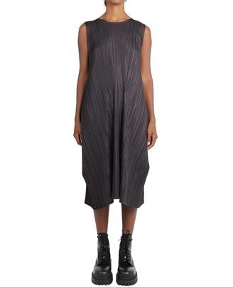 Pleats Please Issey Miyake Pleats Please Grey Mellow Pleats Dress