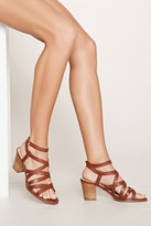 Forever 21 Strappy Block-Heel Sandals