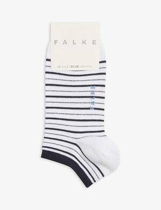 Falke Glitter stripe cotton-blend trainer socks