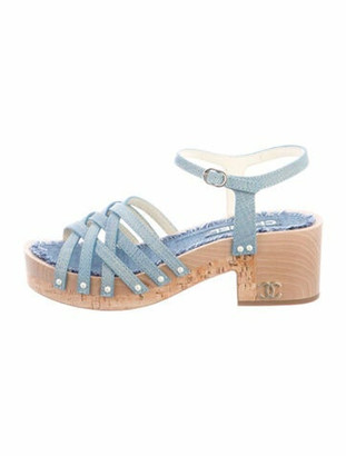 Chanel Gladiator Sandals Blue