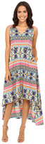 Christin Michaels Talaya Printed V-Neck Dress