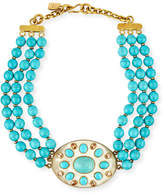 Ashley Pittman Bendi Turquoise & Light Horn Pendant Necklace