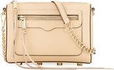 Rebecca Minkoff Avery Leather Crossbody Bag, Medium Beige