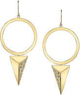 JCPenney FINE JEWELRY DOWNTOWN BY LANA Gold-Tone Crystal Pyramid Hoop Earrings