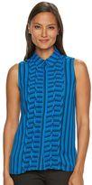 Dana Buchman Women's Pintuck Striped Blouse