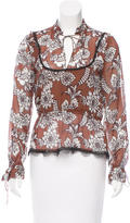 Nicholas Silk Lace-Trimmed Top w/ Tags