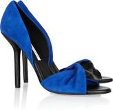Diane von Furstenberg Serra suede and textured-leather pumps