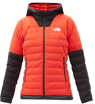 The North Face Summit Quilted Down Hooded Jacket - Red Multi
