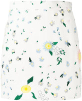 Thom Browne floral print skirt - women - Silk/Cotton - 38