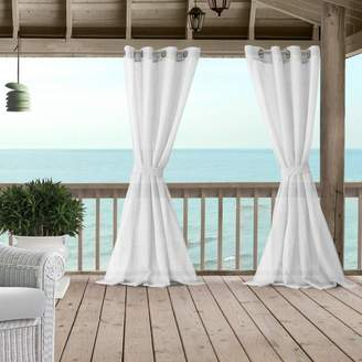 "Bali Sheer Indoor/Outdoor Tieback Curtain Panel, 52"" x 108"""