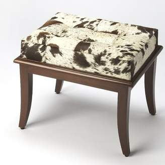 Tobias Hair-On-Hide Accent Stool Union Rustic