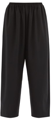 eskandar Wool-blend Japanese Trousers - Black