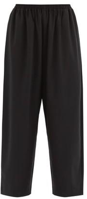 eskandar Wool Blend Japanese Trousers - Womens - Black