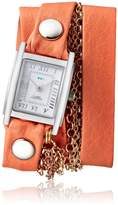 La Mer Women's 'Multi Chain' Quartz Stainless Steel Case Back, Nickle Free Mixed Metal Alloy and Leather Watch, Color:d (Model: LAMERMULTI4503)