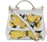 Dolce & Gabbana Lemon Print Medium Sicily Bag