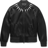 Neil Barrett - Embroidered Satin Bomber Jacket